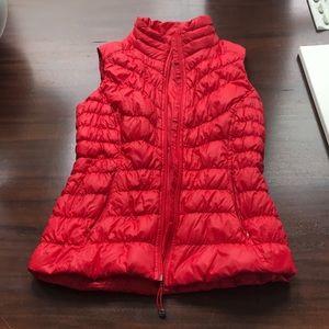 Red Athleta Goose Down Vest Women's Small